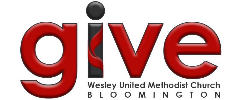 wesley umc bloomington give logo