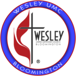 WESLEY UMC BLOOMINGTON BLUE LOGO