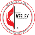 WESLEY UMC BLOOMINGTON WHITE LOGO