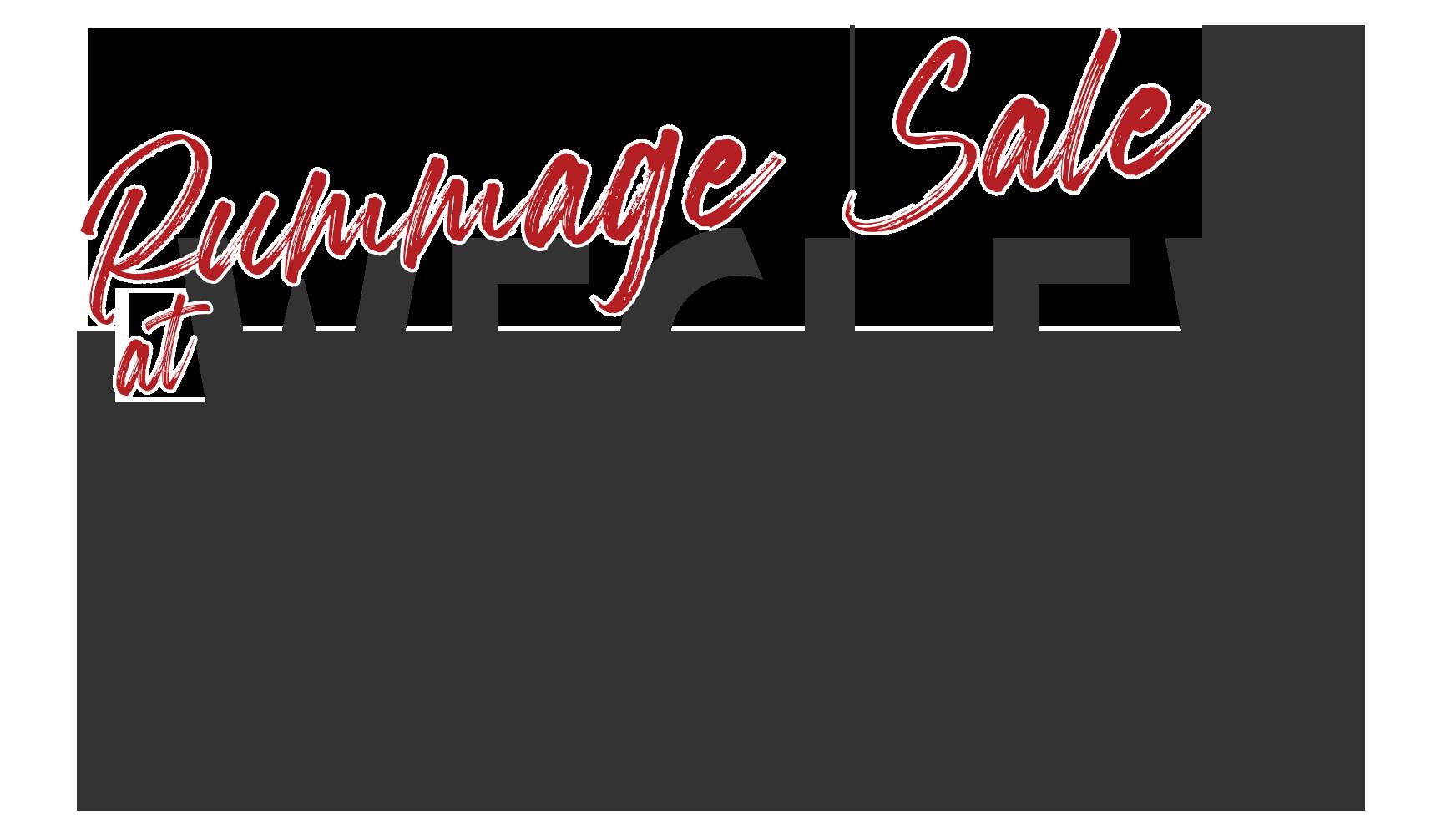 rummage sale at wesley umc