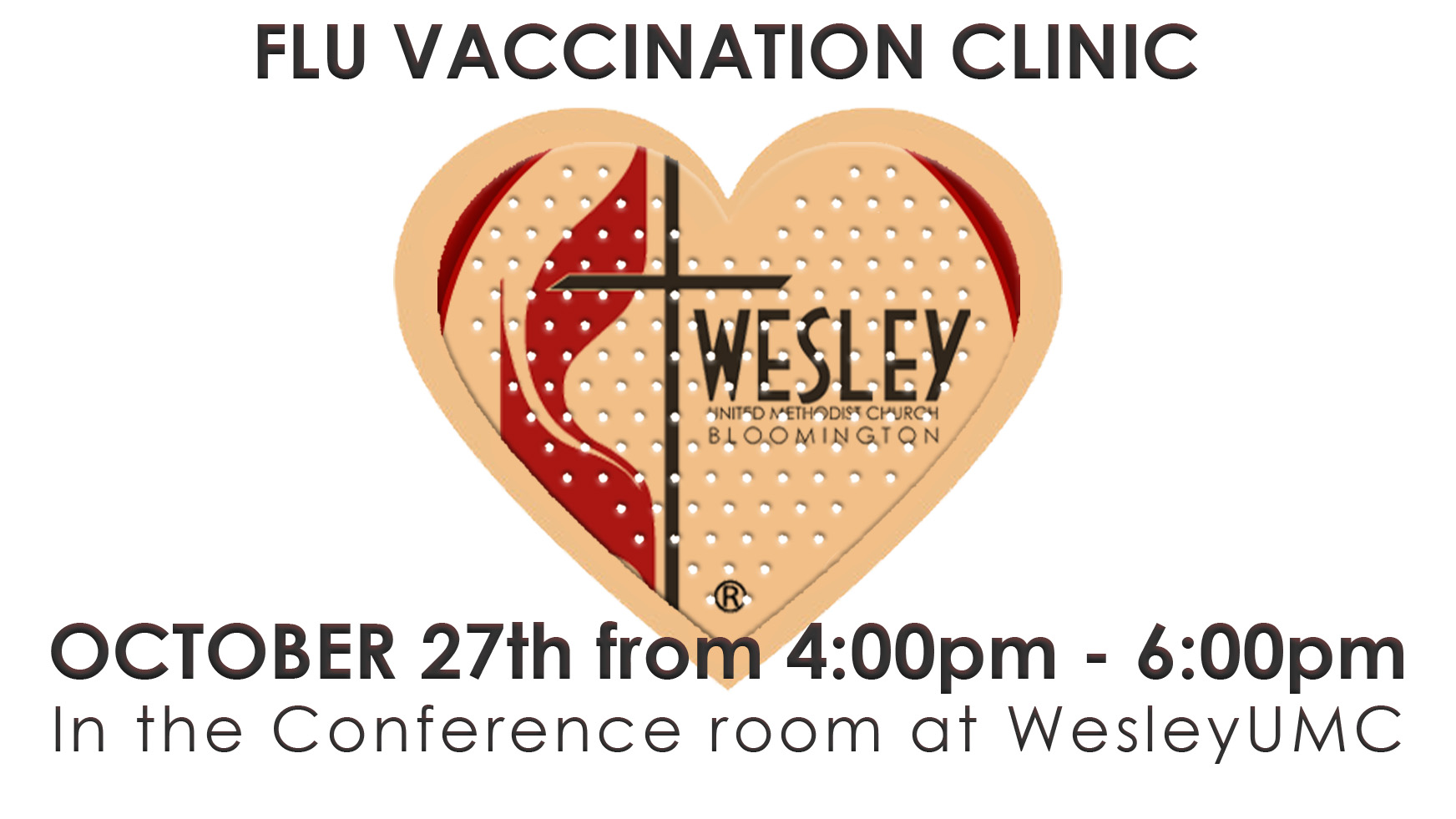 flu vaccination clinic at wesley umc