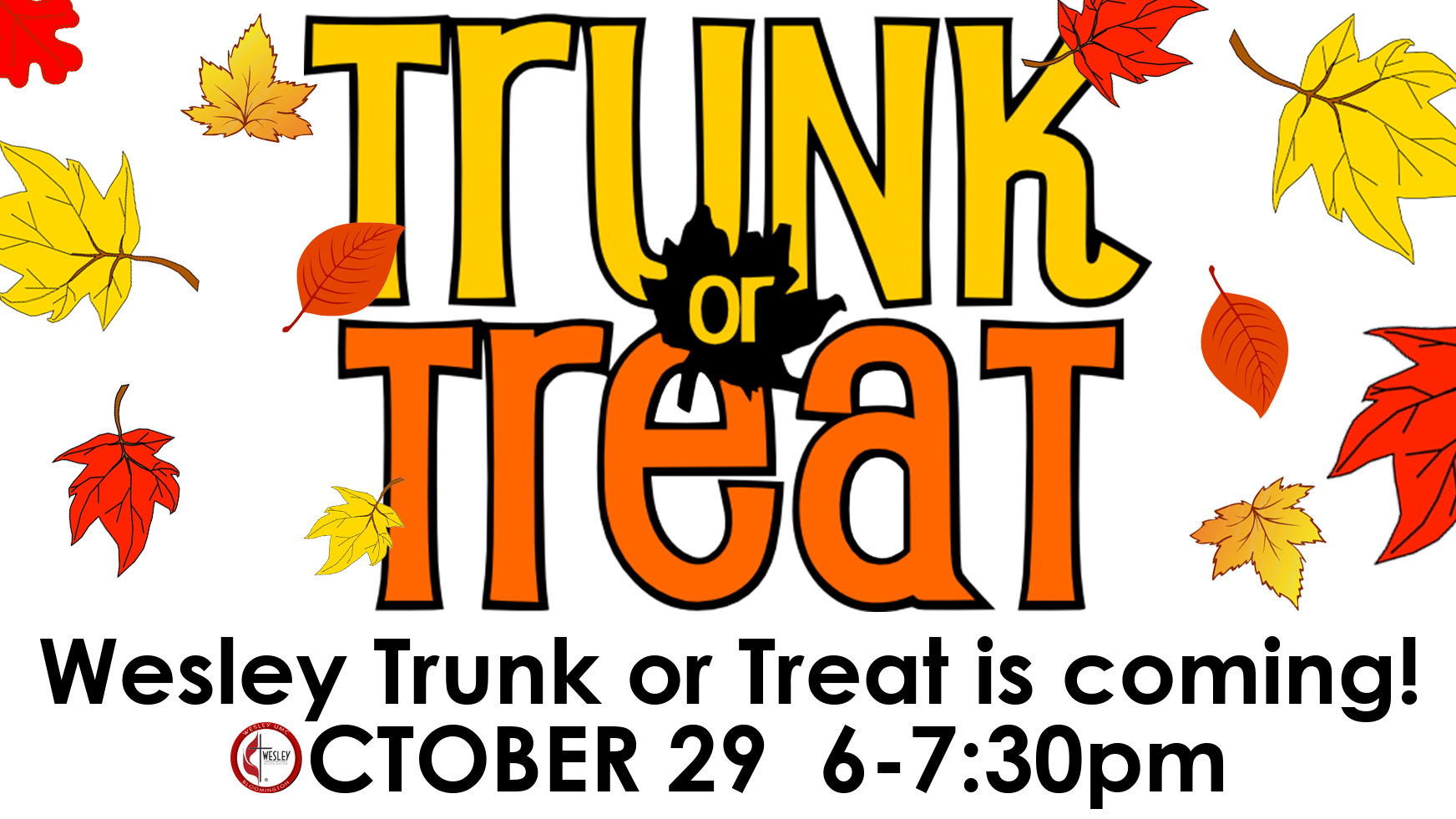 trunk or treat at wesley umc bloomington